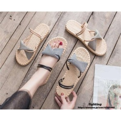 フラット サンダル レディース ストラップ サンダル 歩きやすい 夏の新スタイル  ローヒール 美脚 靴  滑り止め シューズ 痛くない おし