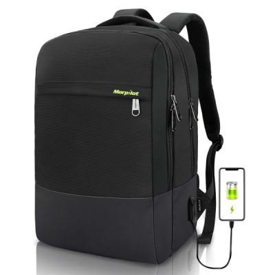 ビジネスリュック Morpilot リュックサック メンズ ビジネスバック バックパック 外部USB充電ポート 大容量 リュックサック 15.6インチ PC収納 盗難防止 撥水加