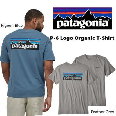 Patagonia パタゴニア P-6 Logo Organic-Tee メンズ 半袖Tシャツ バックロゴプリント オーガニック コットン グレー 正規品 送料無料 US直輸入