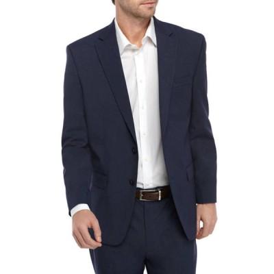 アイゾッド メンズ ジャケット・ブルゾン アウター Medium Blue Suit Separate Coat