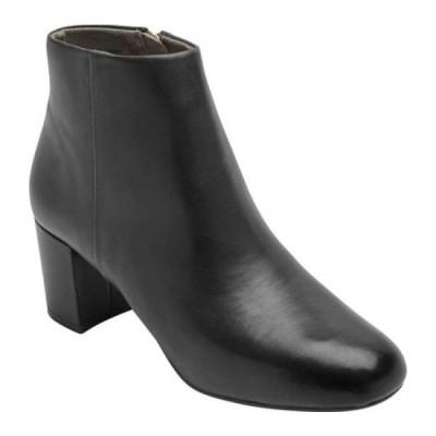 ロックポート Rockport レディース ブーツ シューズ・靴 Total Motion Oaklee Plain Ankle Boot Black Leather