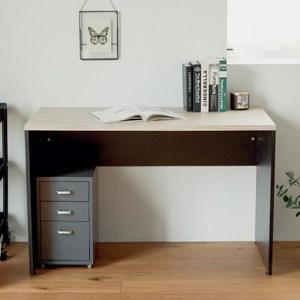 質感木紋工作桌/辦公桌 K0060 完美主義黑腳