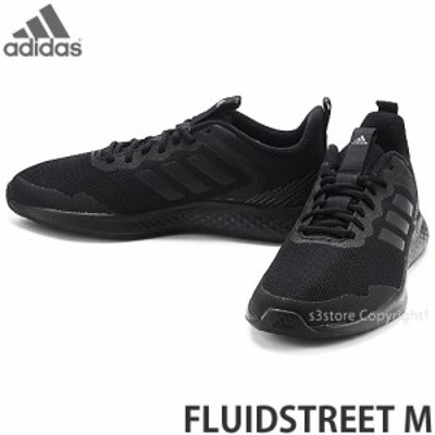 アディダス FLUIDSTREET M カラー:コアブラック/コアブラック/グレーシックス