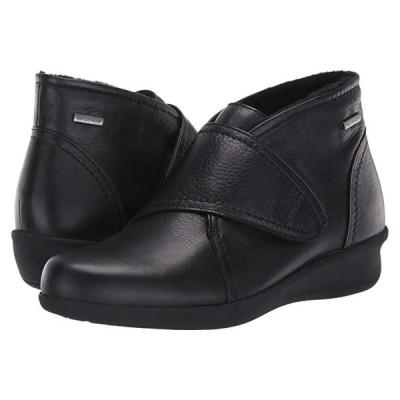 Aravon Fairlee Instep Strap Waterproof レディース ブーツ Black Leather