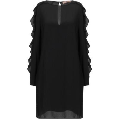 ツインセット シモーナ バルビエリ TWINSET ミニワンピース&ドレス ブラック 38 アセテート 65% / シルク 35% ミニワンピース&