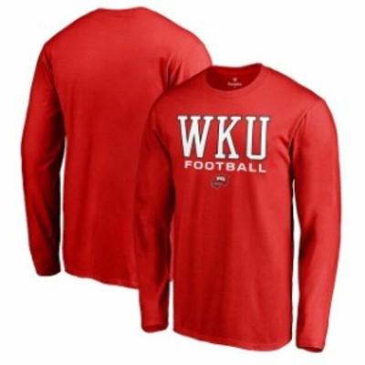 Fanatics Branded ファナティクス ブランド スポーツ用品  Fanatics Branded Western Kentucky Hilltoppers Red True Sport Football Lon