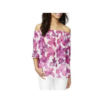 レディース 衣類 トップス Rachel Rachel Roy Womens Floral Print Off-The-Shoulder Blouse Purple L ブラウス&シャツ