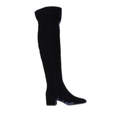 ジャンヴィト・ロッシ GIANVITO ROSSI ブーツ ダークブルー 40.5 紡績繊維 ブーツ