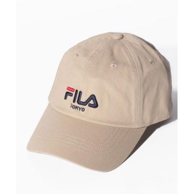(FILA(Hat)/フィラ ボウシ)トウキョウツイルキャップ/ユニセックス ベージュ