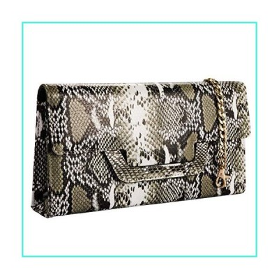 【新品】Heaye Animal Skin Croco Clutches Evening Bags Alligator Pattern Crossbody Bag(並行輸入品)