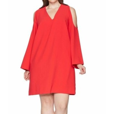 Rachel Roy レイチェルロイ ファッション ドレス RACHEL RACHEL ROY NEW Red Womens Size 2X Plus V-Neck Shift Dress