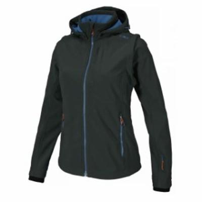 cmp シーエムピー アウトドア 女性用ウェア ジャケット cmp softshell-jacket-snaps-hood