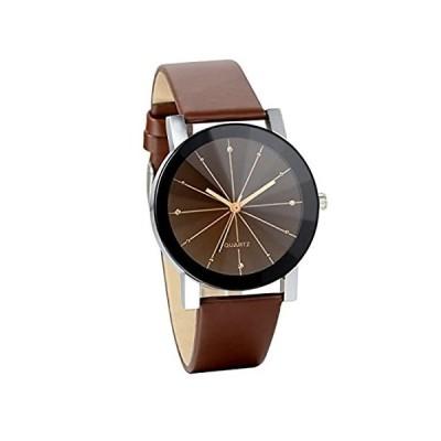 特別価格JewelryWe メンズ 腕時計 ファッション カジュアル ビジネス レザーバンド アナログ スポーツ クォーツ 合金 バレンタイン プレゼント ブ好評販売中