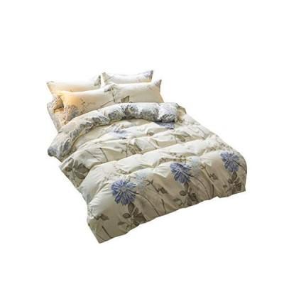 布団カバーセット マクラカバー ベッド用 ボックスシーツ 寝具セット 布団カバー まくらカバー 柔らかい 寝心地いい 花柄 きれい 190*