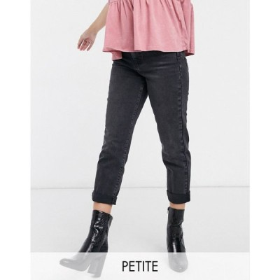 ニュールック New Look Petite レディース ジーンズ・デニム ボトムス・パンツ waist enhancing mom jeans in black ブラック