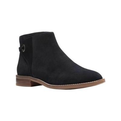 レディース 靴 ブーツ Clarks Women's Camzin Bow Ankle Boot Black Suede Size 8.5