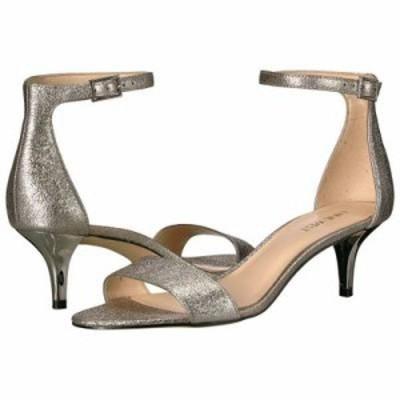 ナインウェスト サンダル・ミュール Leisa Heel Sandal Pewter Metallic