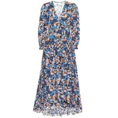 アレクサンドラ ミロ Alexandra Miro レディース ワンピース ワンピース・ドレス Maria floral cotton-poplin dress Small Mustanrd Floral