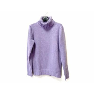 スローン SLOANE 長袖セーター サイズ3 L レディース パープル タートルネック【中古】20200527