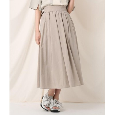 【クチュールブローチ】 タックリボンタイプライターフレアスカート レディース ライト ベージュ 38(M) Couture Brooch