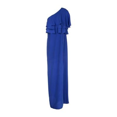 スペース SPACE SIMONA CORSELLINI ロングワンピース&ドレス ブルー 42 シルク 100% ロングワンピース&ドレス