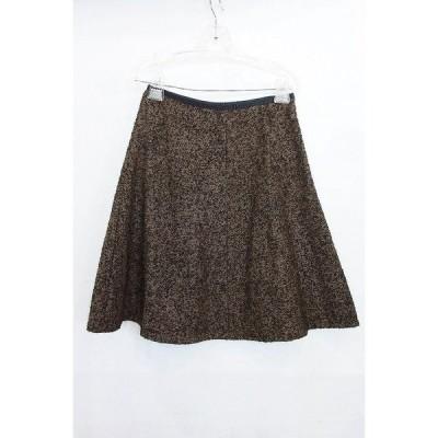 BALLSEY ボールジー  ひざ丈 フレアスカート サンプル品 ブラック/ブラウン系