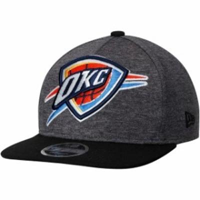 New Era ニュー エラ スポーツ用品  New Era Oklahoma City Thunder Heathered Graphite/Black Huge Logo 9FIFTY Adjustable