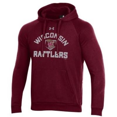 アンダーアーマー メンズ パーカー・スウェット アウター Wisconsin Timber Rattlers Under Armour All Day Raglan Fleece Pullover Hood