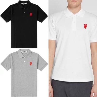 コムデギャルソン ポロシャツ ラージハート プレイ PLAY LARGE HEART COMME des GARCON ブラック ホワイト グレー 取り寄せ