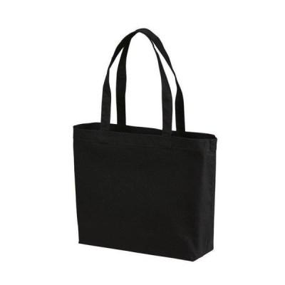 トートバッグ Wサイズ 無地 キャンバス エコバッグ シンプル ブラック 黒 黒色
