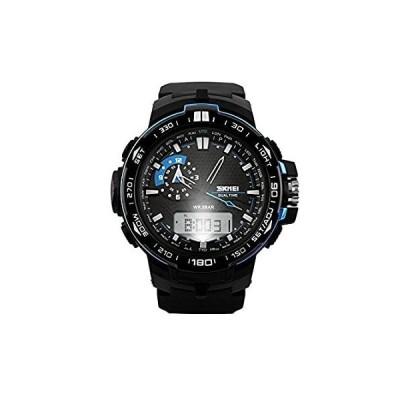送料無料 Luxury Sport Military ArmyメンズラバーLED Swim Dive手首アナログデジタル腕時計ブルー
