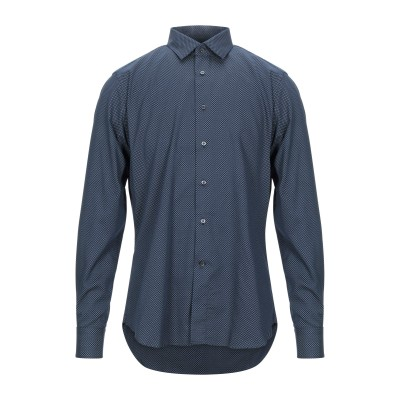 BRANCACCIO シャツ ダークブルー 41 コットン 100% シャツ