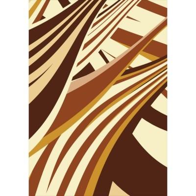 ポスター ウォールステッカー シール式 203×254mm 六つ切り 写真 壁 インテリア おしゃれ wall sticker poster 茶色 ブラウン 模様 006547