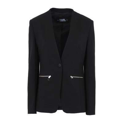 カールラガーフェルド KARL LAGERFELD テーラードジャケット ブラック 44 レーヨン 60% / ナイロン 35% / ポリウレタン