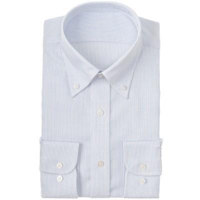 メンズ 【在庫限り】セブンプレミアム 超形態安定清涼青ボタンダウンドレスシャツ(レギュラーシルエット) サックスブルー 首回り37cm×裄丈80cm
