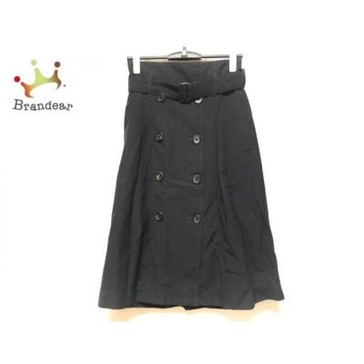 マーガレットハウエル MargaretHowell 巻きスカート サイズ1 S レディース 黒   スペシャル特価 20200621