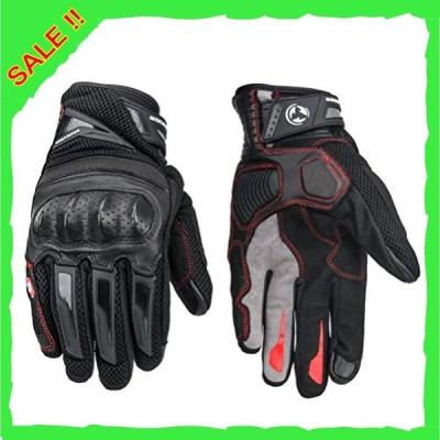 バイク用グローブ スマホ対応 プロテクター オートバイク手袋 カーボン繊維 タッチパネル スマートフォン 春