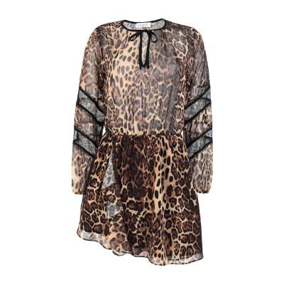 GAëLLE Paris ミニワンピース&ドレス ブラウン 38 ポリエステル 100% / ナイロン ミニワンピース&ドレス