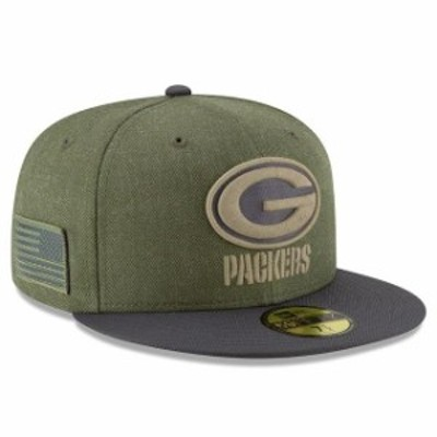 New Era ニュー エラ スポーツ用品  New Era Green Bay Packers Olive/Gray 2018 Salute to Service Sideline 59FIFTY Fitted