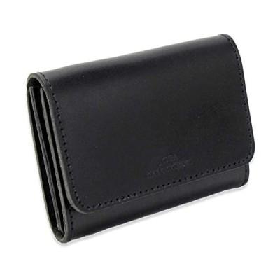 栃木レザー カードケース 名刺入れ 本革 パスケース 財布 おしゃれ ブランド 人気 日本製 (ブラック)