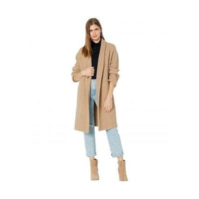 Vince ヴィンス レディース 女性用 ファッション アウター ジャケット コート ウール・ピーコート Collarless Cardigan Coat - Heather Camel