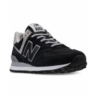 ニューバランス メンズ スニーカー シューズ Men's 574 Casual Sneakers from Finish Line Black