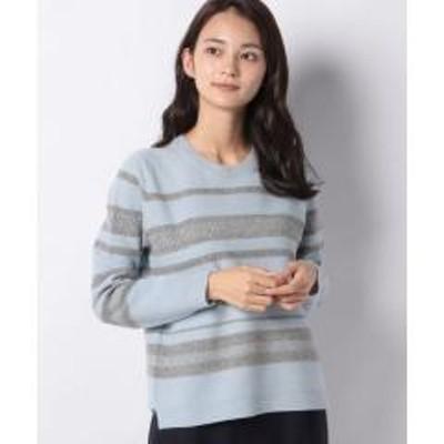 Leilian(レリアン)ボーダー柄セーター