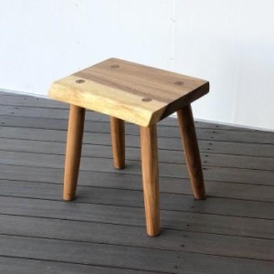 スツール 木製 椅子 一枚板 おしゃれ  北欧 玄関スツール モンキーポッド