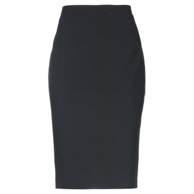 ANTILEA 7分丈スカート ブラック 46 レーヨン 54% / アセテート 43% / ポリウレタン 3% 7分丈スカート