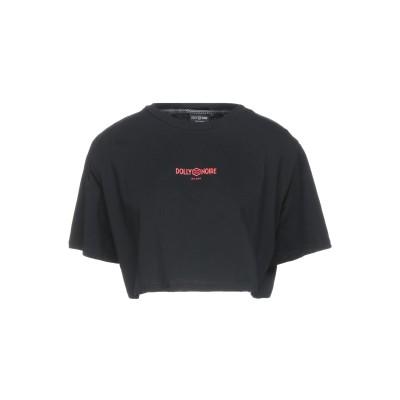 DOLLY NOIRE T シャツ ブラック XS コットン 100% T シャツ