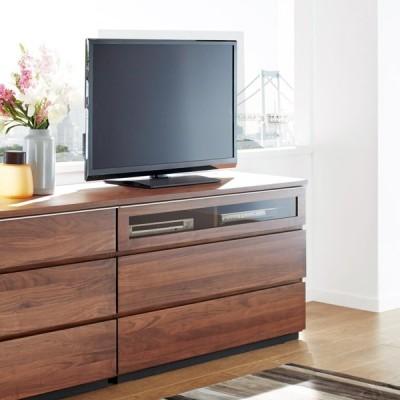家具 収納 リビング収納 テレビ台 Nyhavn(ニューハウン) ウォルナットベッドサイド収納 ミドルAVチェストテレビボード 幅120奥行45高さ70cm H81209