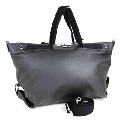 サンローランパリ トートバッグ ハンドバッグ レザー ビジネスバッグ ブラック 黒 新品同様 m810 【中古】