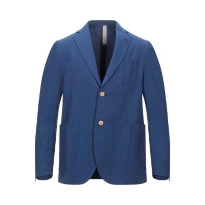 MICHELANGELO テーラードジャケット ブルー 56 コットン 95% / ポリウレタン 5% テーラードジャケット