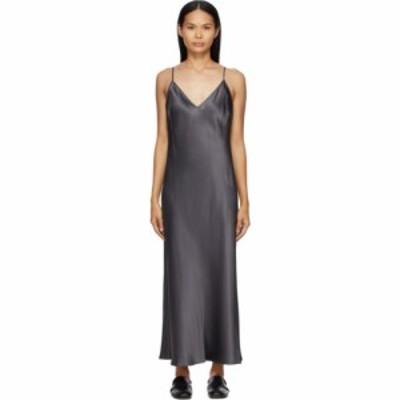 ジョゼフ Joseph レディース ワンピース ワンピース・ドレス Grey Silk Clea Dress Anthracite